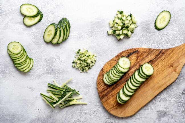 Snijtechnieken komkommer