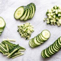 Snijtechnieken komkommers
