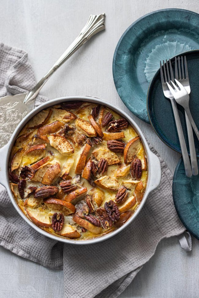 appel walnoot clafoutis