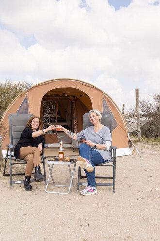 Kamperen op camping de lakens
