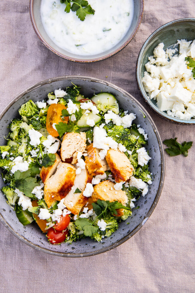 Griekse broccolisalade