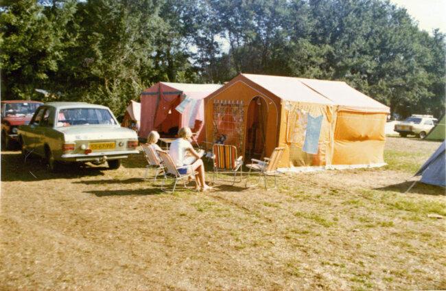 Op de camping in Frankrijk