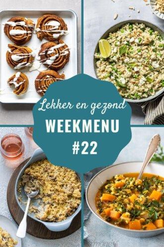 weekmenu voor week 22