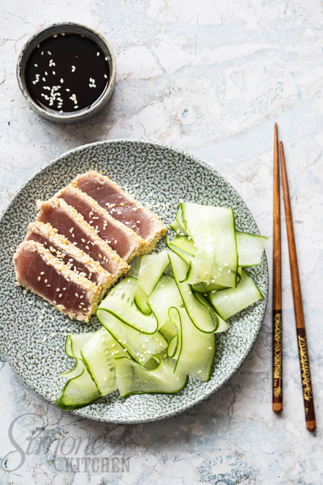 gebakken tonijn