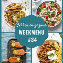Weekmenu voor week 34