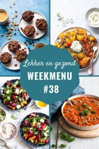 weekmenu voor week 38