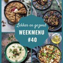 weekmenu voor week 40