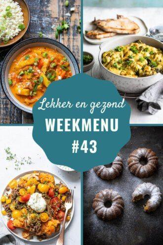 Weekmenu voor week 43