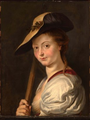 Peter Paul Rubens, Herderin (Isabella Brant?), ca. 1615 (?), olieverf op paneel, 68 x 58 cm Private Collection, London – on loan to The Princely Collections, Liechtenstein © Sotheby's