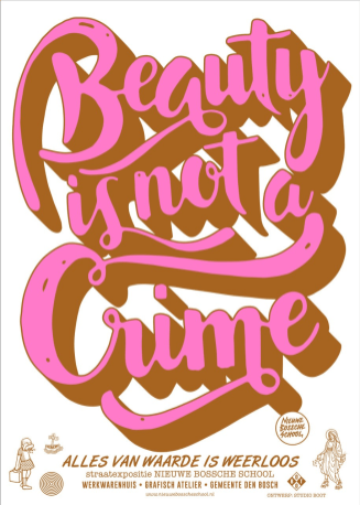 Studio Boot - poster Beauty is not a crime