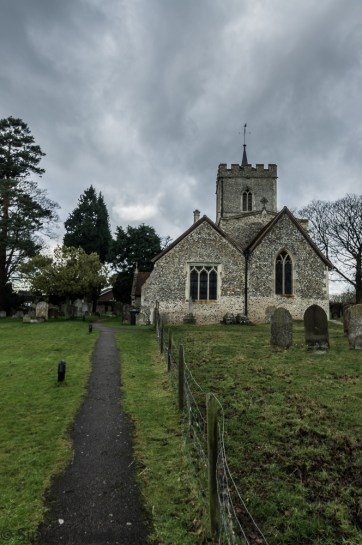 Pictures of St Giles Church in Codicote - The path leading up to the church