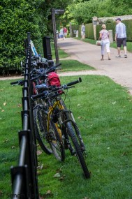 Wimpole Hall in Cambridgeshire pictures - Cycles in a row