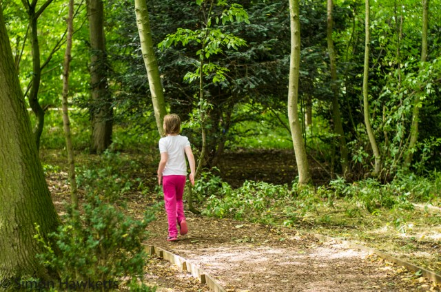 Wimpole Hall in Cambridgeshire pictures - Emma runs ahead