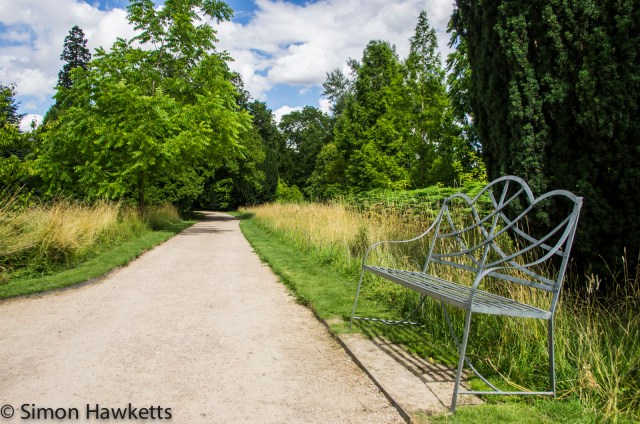 Wimpole Hall in Cambridgeshire pictures - Seat by the path