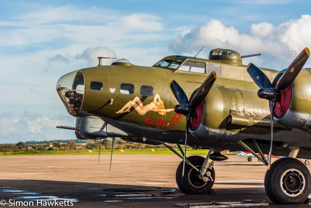 Duxford aircraft museum pictures with Pentax K200 - The sally B at duxford
