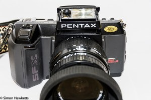 Pentax SFXn from the front