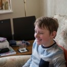 Sony Nex 6 test shots - A boy with a laptop