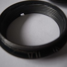 Pentacon 50mm strip down and clean - Focusing ring removed