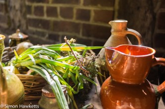 A collection of Tudor provisions caught in a beam of sunlight