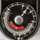 Weston II vintage light meter showing exposure dial
