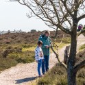 Dunwich Heath Suffolk pictures - A girl and her mum with nature trail clues