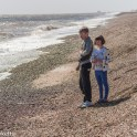 Dunwich Heath Suffolk pictures - Two children standing on the shoreline
