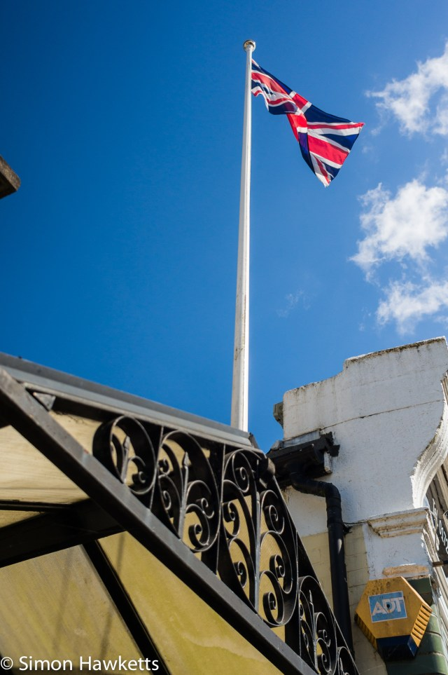 Pictures of Framlingham in Suffolk - A union jack flying in the town