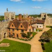 Pictures of Framlingham in Suffolk - Looking at the castle keep from the battlements of Framlingham Castle