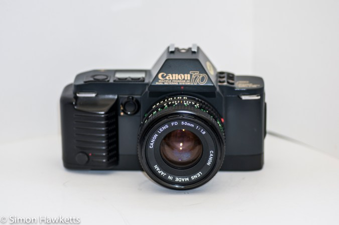 Canon T70 - front view