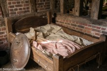 Kentwell Hall Tudor day pictures - Tudor bed