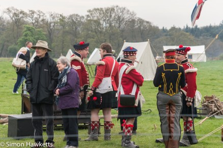 National Trust property Ickworth House pictures - Army camp in battle re-inactment