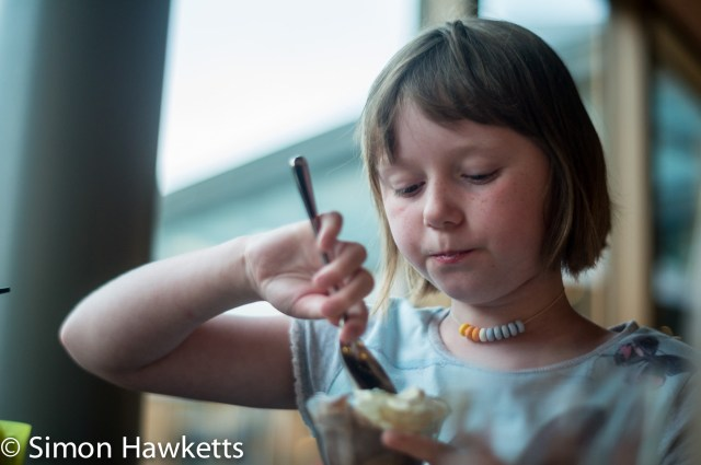 Pictures from Woburn Forest CenterParcs - A girl eating icecream