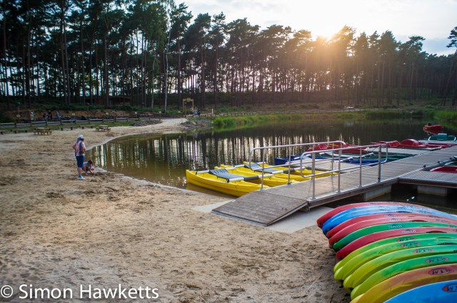 Pictures from Woburn Forest CenterParcs - Boating lake in the evening sunshine