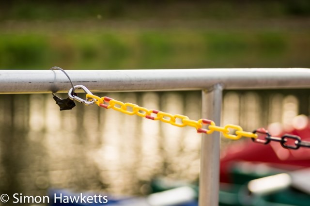 Pictures from Woburn Forest CenterParcs - Colourful chain holding boats
