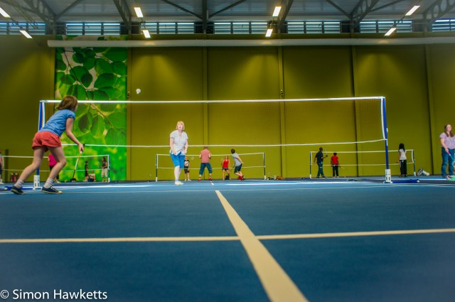 Pictures from Woburn Forest CenterParcs - playing badminton