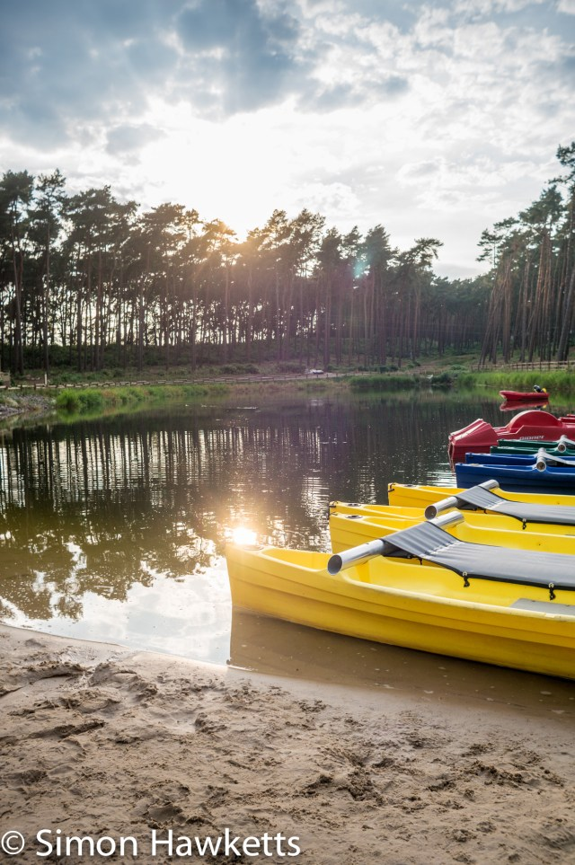 Pictures from Woburn Forest CenterParcs - Sunshine reflecting off water