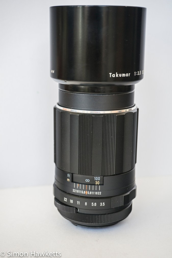 Takumar 135mm 1:3.5 ready to fit on the camera