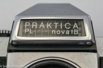 Praktica Nova 1B 35mm slr showing selenium cell for the light meter