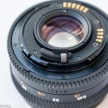Mamiya ZM Quartz 35mm slr camera showing aperture actuation pin