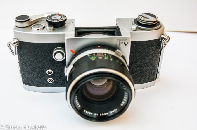 Miranda Fv 35mm slr showing viewfinder removed
