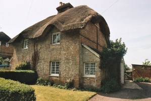 Photos from film found in old cameras - a thatched cottage