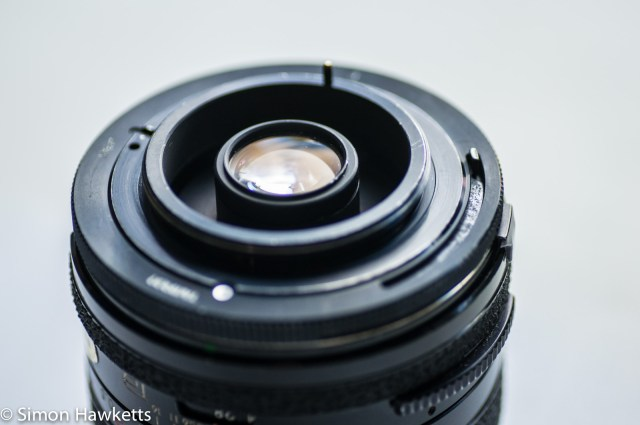 Tamron BBar 28mm f/2.8 with adaptall M42 mount fitted