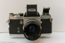Miranda Fm 35mm slr camera showing flash bracket