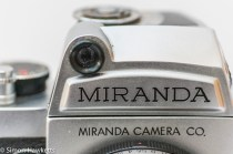 Miranda Fm 35mm slr camera showing lightmeter cell