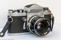 Miranda G 35mm slr camera front left view