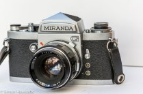 Miranda G 35mm slr camera front right view