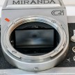 Miranda G 35mm slr camera showing miranda dual mount