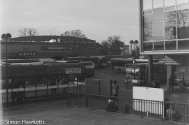 Caffenol sample picture - Looking over the bus station in Stevenage town centre