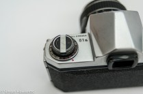 Pentax S1a 35mm showing rewind crank