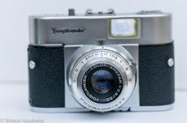 Voigtlander Vito B viewfinder camera showing color skopar lens